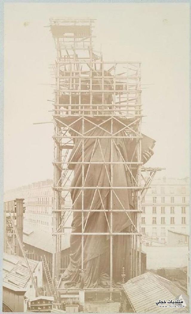 مراحل بناء تمثال الحرية تمثال