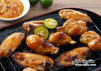اجنحة الدجاج بالعسل طريقة اجنحة