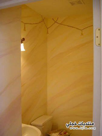 ديكورات تصميم جدران الحمام ديكور