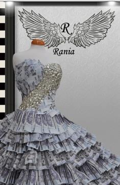 سعودية تصمم فستان النقود فستان