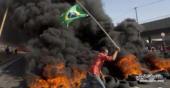 احتجاجات البرازيل انطلاق مونديال 2014