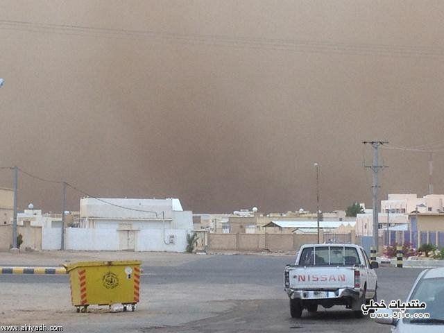غبار محافظة عفيف 1435 غبار
