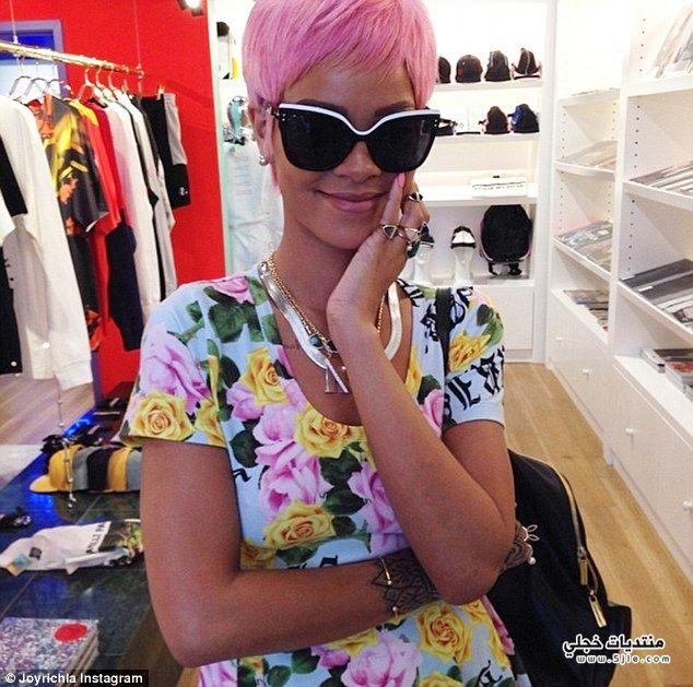 pink Rihanna 2014 ريهانا بشعر
