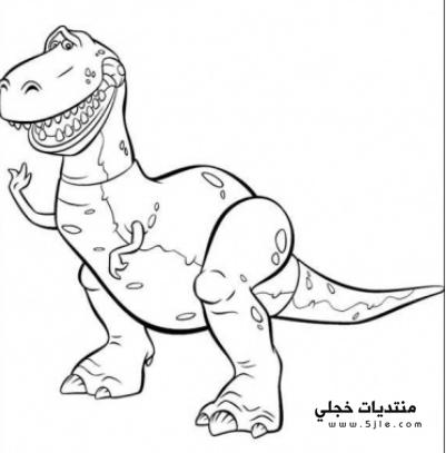 ديناصورات للتلوين