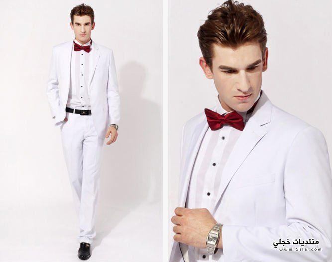 رجالى بيضاء للزفاف 2014 ملابس