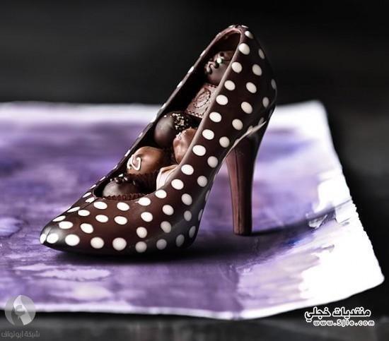 احذية مصنوعة الشوكولاتة احذية نسائية