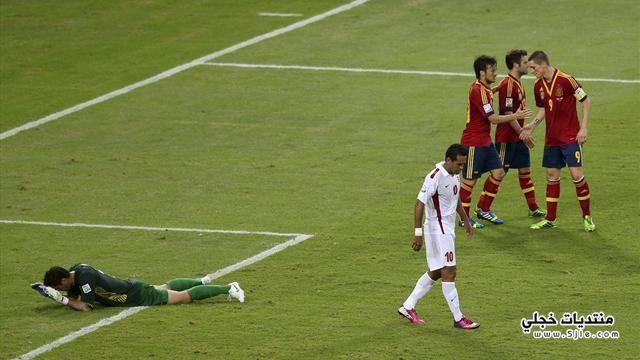 اسبانيا تفوز تاهيتي القارات اسبانيا