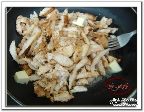 طريقة شورما الدجاج