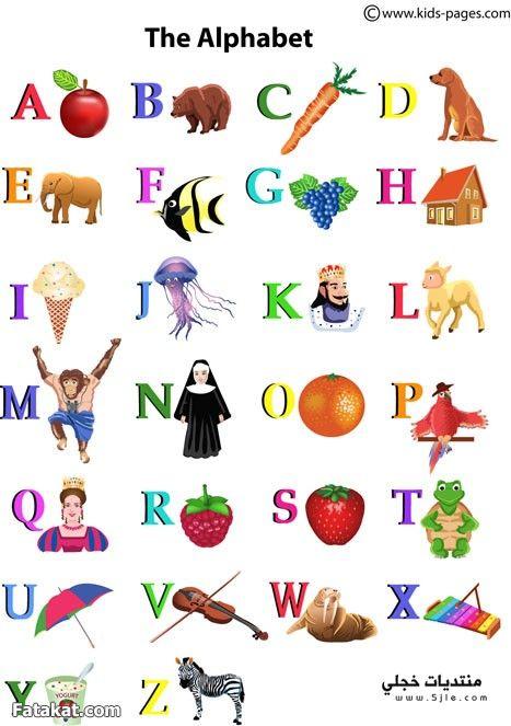 تعلم الحروف الانجليزية الحروف الانجليزية