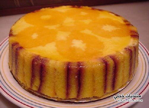 طبقات الكيك بالبرتقال طريقة طبقات
