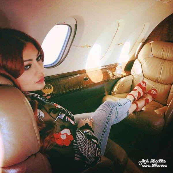 هيفاء وهبي طائرة خاصة اخبار