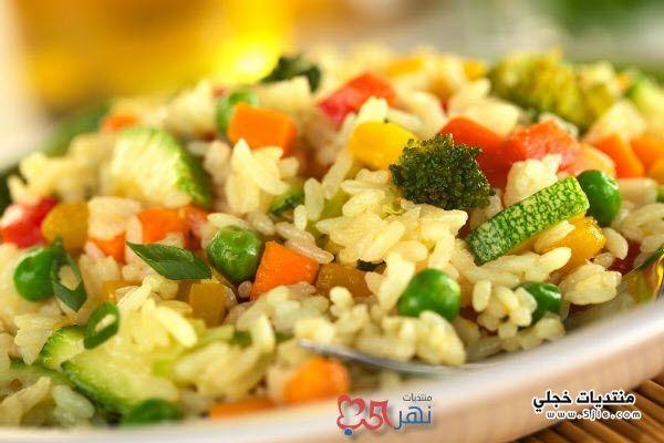 طريقة الارز بالخضروات