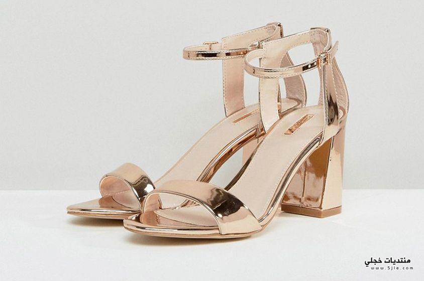 احذية ذهبية للعروس 2018