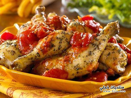 طريقة الدجاج باللبن الزبادي والنعناع