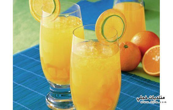 مكونات شراب الصيف الفوار طريقة