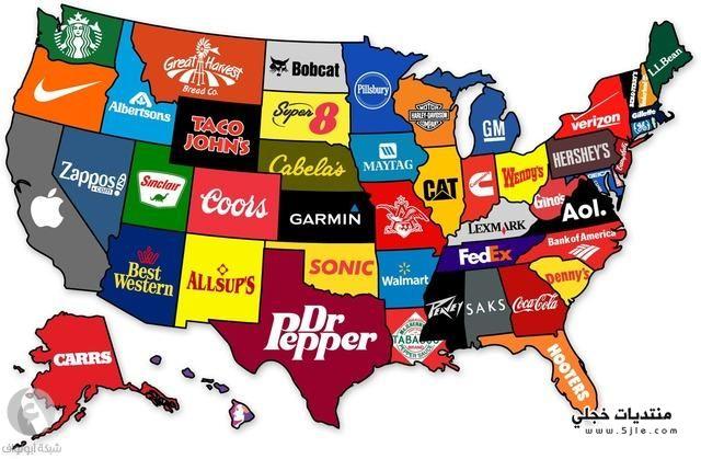 خريطة الشركات الامريكية خريطة الشركات