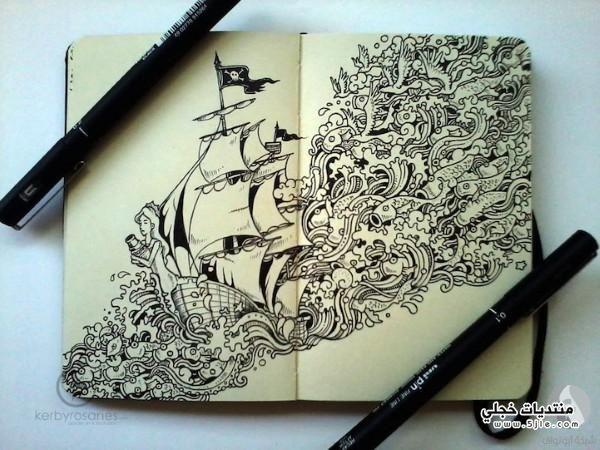 رسومات دفتر الملاحظات رسومات رسومات