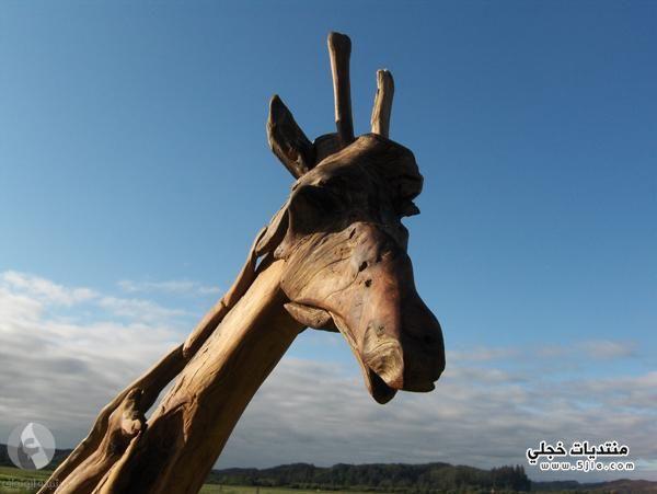 تماثيل مصنوعة الخشب