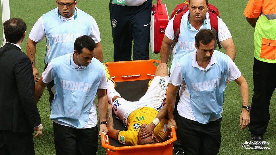 غياب نيمار العالم 2014 اصابة
