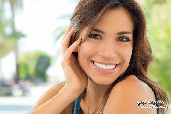 تبييض الاسنان سهولة طريقة تبييض