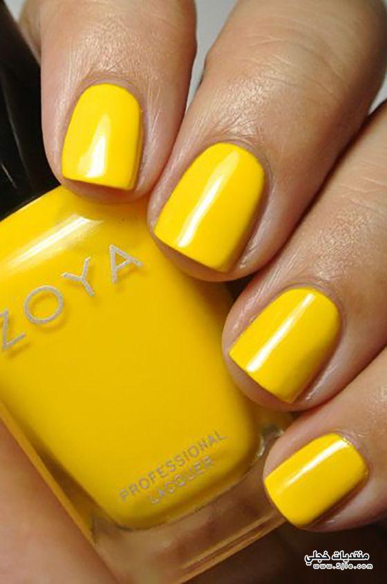 مناكير باللون الاصفر
