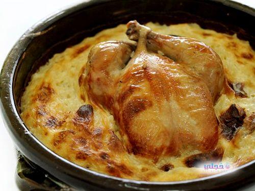طريقة الارز المعمر بالدجاج الارز