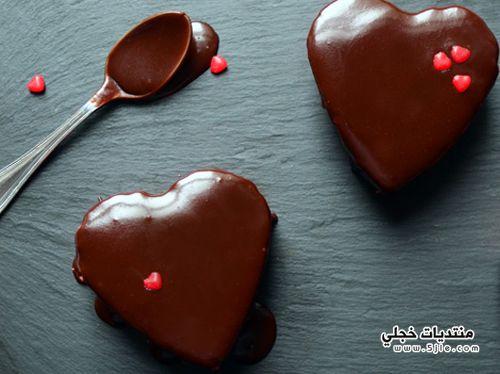 طريقة قلوب الجاتوه بالشوكولا طريقة