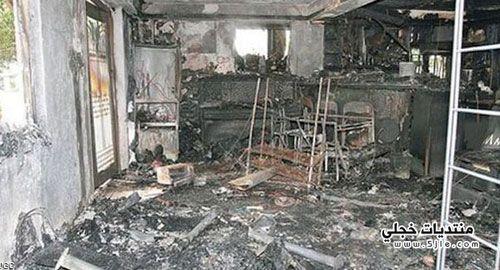انفجار جالكسي يتسبب احتراق منزل