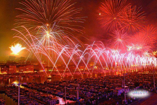 احتفالات العيد بالالعاب النارية الالعاب