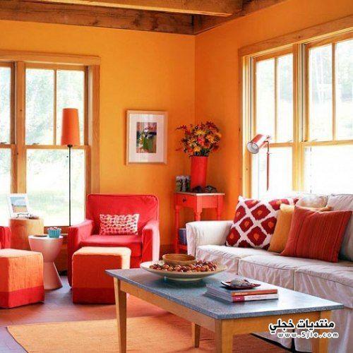 ديكورات باللون البرتقالي 2014