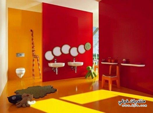 ديكورات حمامات للاطفال 2014