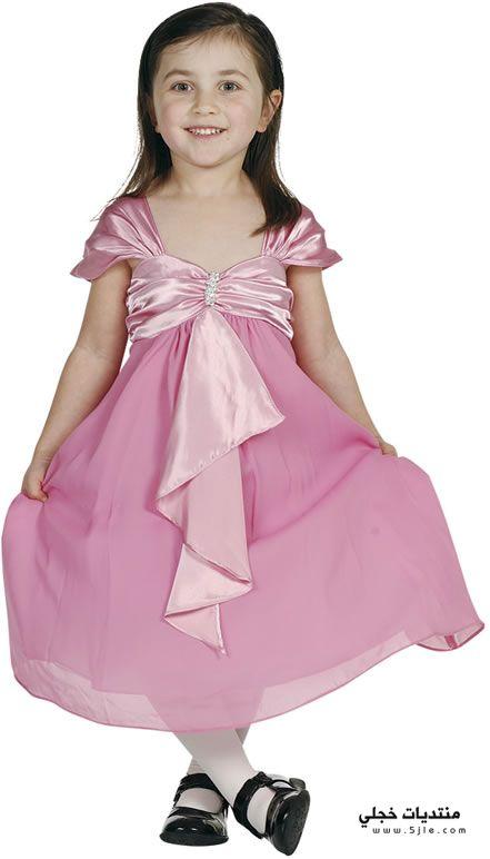 فساتين باللون الوردي للاطفال 2014