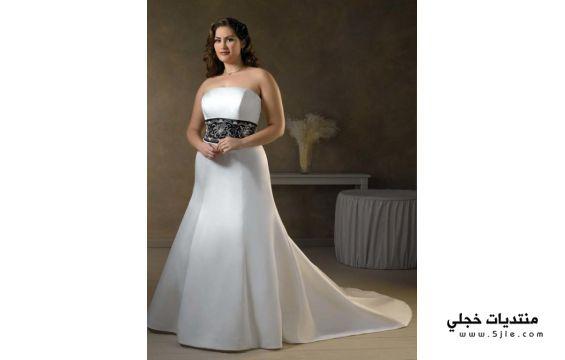 فساتين للعروس السمينة ازياء للعروس