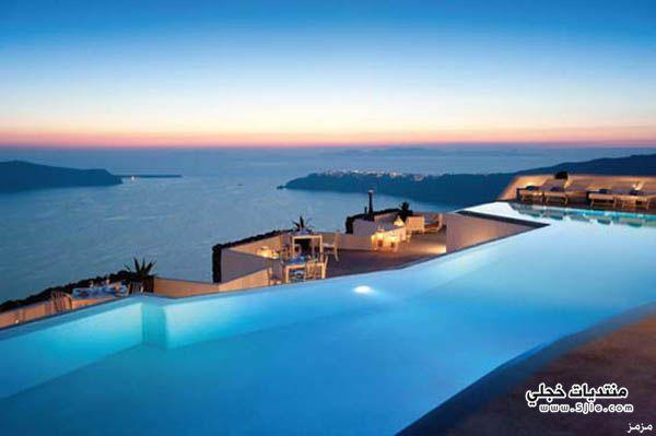 جزيرة سانتوريني اليونان روعة جزيرة