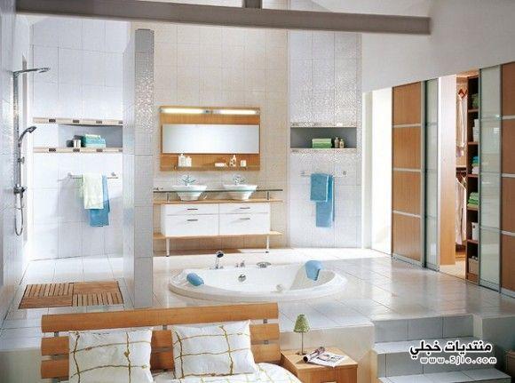 حمامات قصور 2014 ديكورات زرقاء