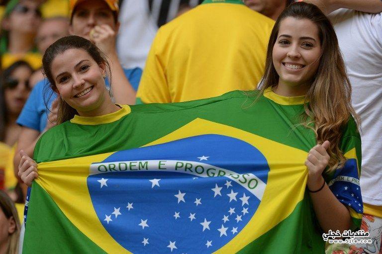 مشجعي البرازيل القارات بنات البرازيل
