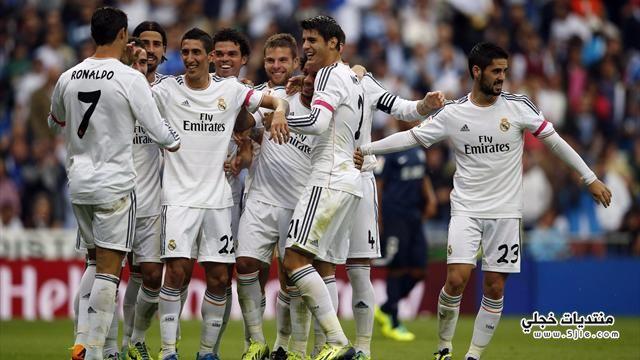 ريال مدريد يفوز ملقا الدوري