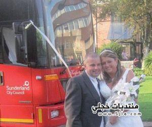 زفاف عروسين شاحنة قمامة
