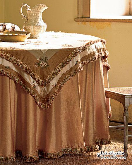 مفارش طاولات غرفة طعام 2013