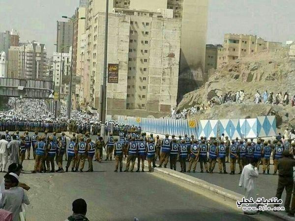 شرطة لصور مظاهرات الحجاج الإيرانيين
