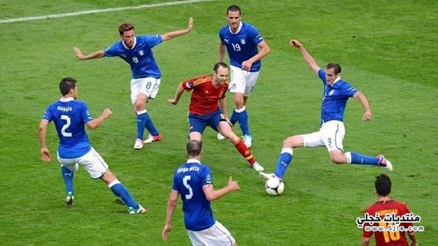 مباراة اسبانيا وايطاليا القارات اسبانيا
