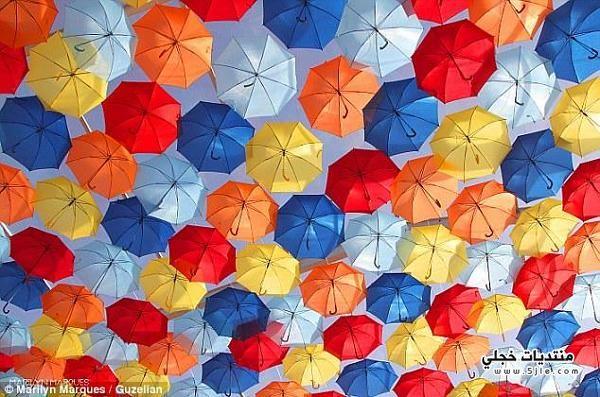 شارع المظلات الملونه