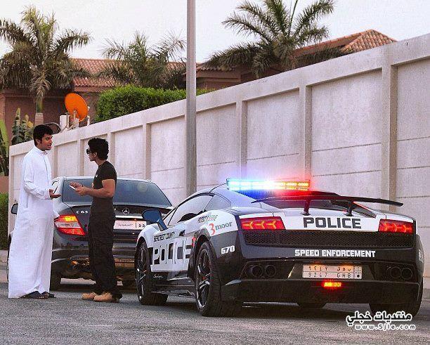 سيارة شرطة لمبرجيني يملكها سعودي