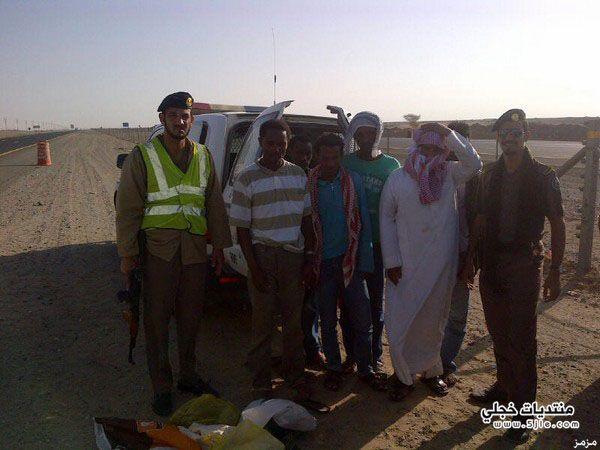 مواطن متلبساً بتهريب إثيوبيين الرياض