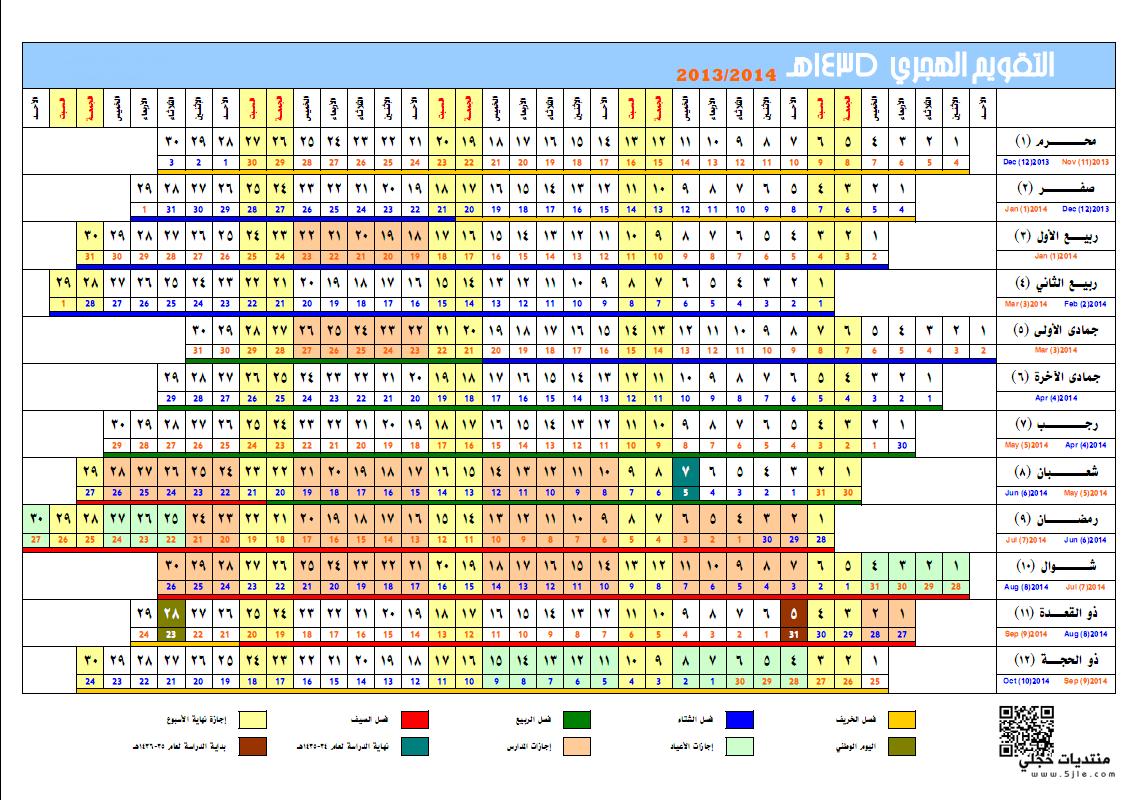 التقويم الهجري 1435