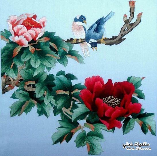 لوحات مرسومة الحرير راقية لوحات