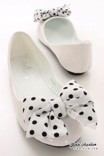احذية فلات للبنات 2014 احذية