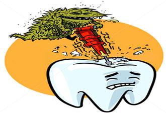 تسوس الاسنان كرتون