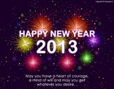 العام الجديد 2013 happy year