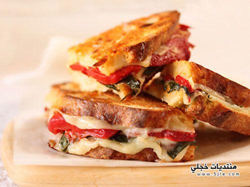ساندوتش الفلفل بالجبن طريقة تحضير